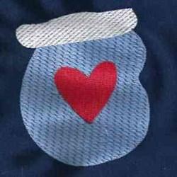Heart Miten embroidery design