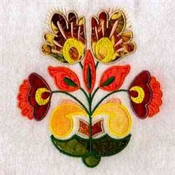 Applique Flowers embroidery design
