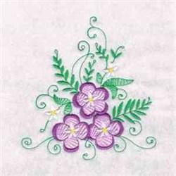 Purple Flowers embroidery design