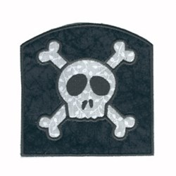 Applique Skull Bag embroidery design