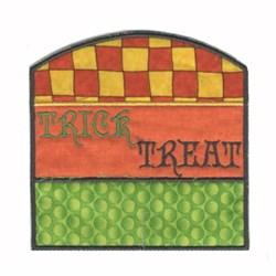 Applique Halloween Bag embroidery design