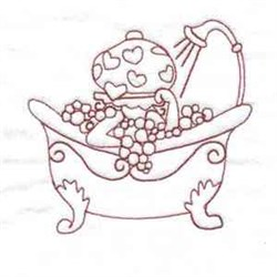 Bubble Bath Girl embroidery design