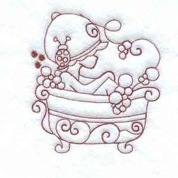 Bubble Bath RW embroidery design