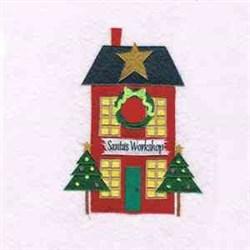 Santa Workshop embroidery design