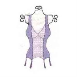 Ladies Corset embroidery design