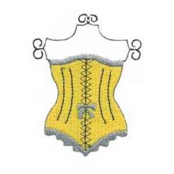Yellow Corset embroidery design