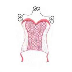 Corset embroidery design