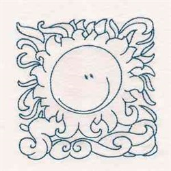 Sun Block embroidery design