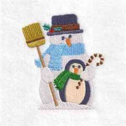 Delightful Snowmen embroidery design