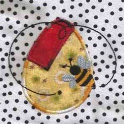 Easter Bee Applique embroidery design