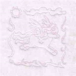 Pegasus Quilt Block embroidery design
