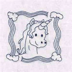 Unicorn Quilt embroidery design