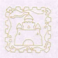 Castle Quilt Block embroidery design