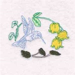 Hummingbird Floral embroidery design