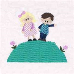 Jack and Jill embroidery design
