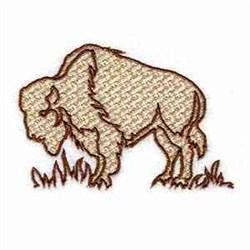 Bison Animal embroidery design