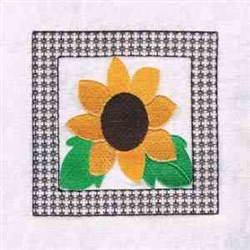 Sunflower Block embroidery design