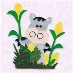 Little Boy Blue Cow embroidery design