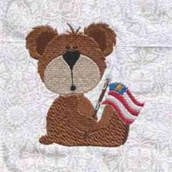 Flag Bear embroidery design