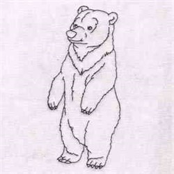 Bear Outline embroidery design