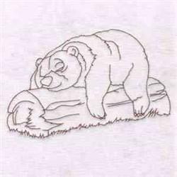 Sleepy Bear embroidery design