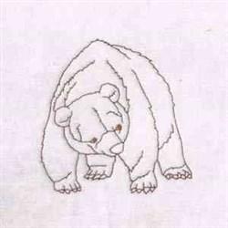 RW Bear embroidery design