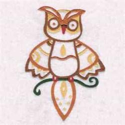 Orange Owl embroidery design