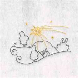 Nativity Star embroidery design