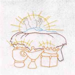 Nativity  Baby Jesus embroidery design