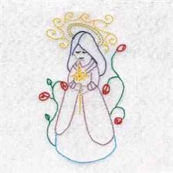 Nativity Madonna embroidery design