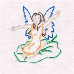Outline Fairy embroidery design