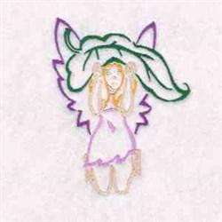 Leaf Fairy embroidery design