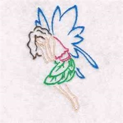 Outline Fairies embroidery design