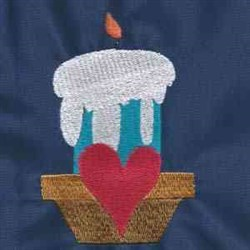 Sweetheart Candle embroidery design