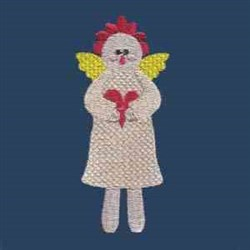 Sweetheart Angel embroidery design