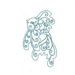Swirly Goldfish embroidery design