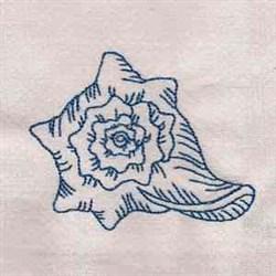 Redwork Seashell embroidery design