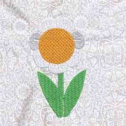 Daisy Flower embroidery design