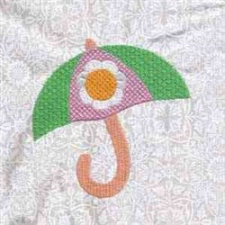 Flower Umbrella embroidery design