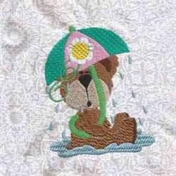 Rainy Bear embroidery design