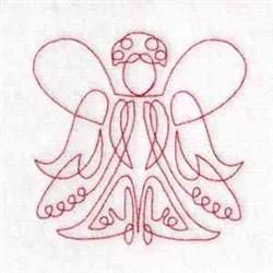 Redwork Angels embroidery design