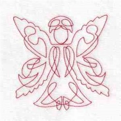 Red Work Angel embroidery design