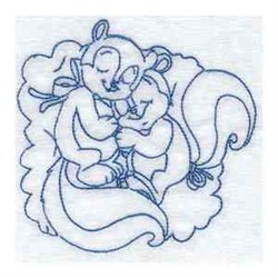 Two Squirrels embroidery design