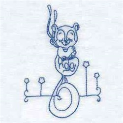 RW Squirrel embroidery design