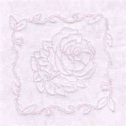Rose Quilt Block embroidery design