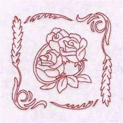 Rose Blocks embroidery design
