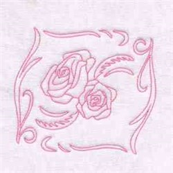 Roses Blocks embroidery design