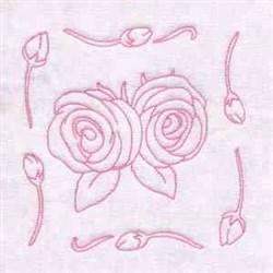 Rose RW Blocks embroidery design
