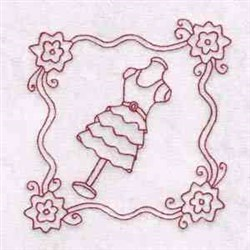 Sewing Manequin Blocks embroidery design