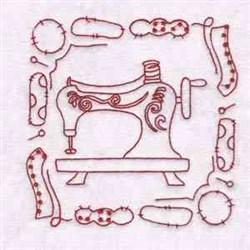 Sewing Machine Blocks embroidery design